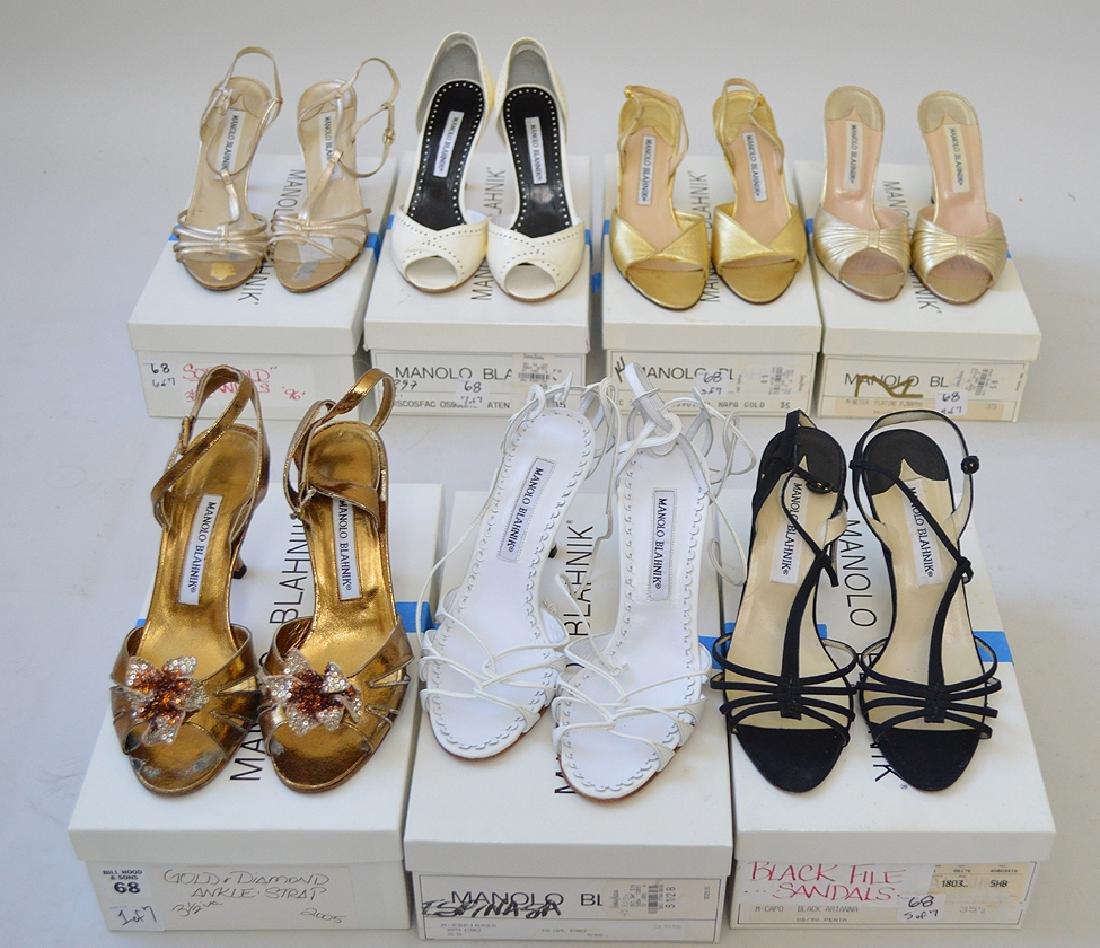 Lot of Seven Pairs of Vintage Manolo Blahnik Ladies'