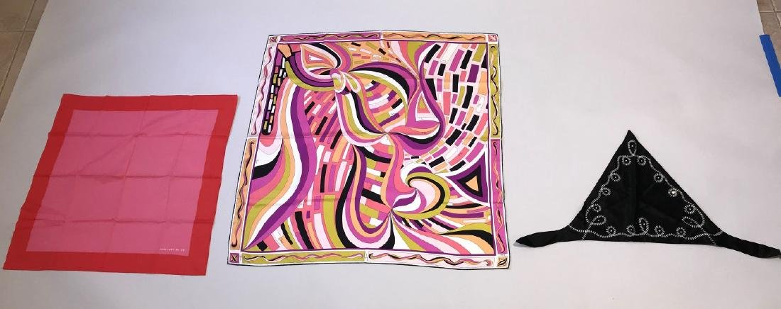 Lot of Three Scarves, Varioius colors patterns and