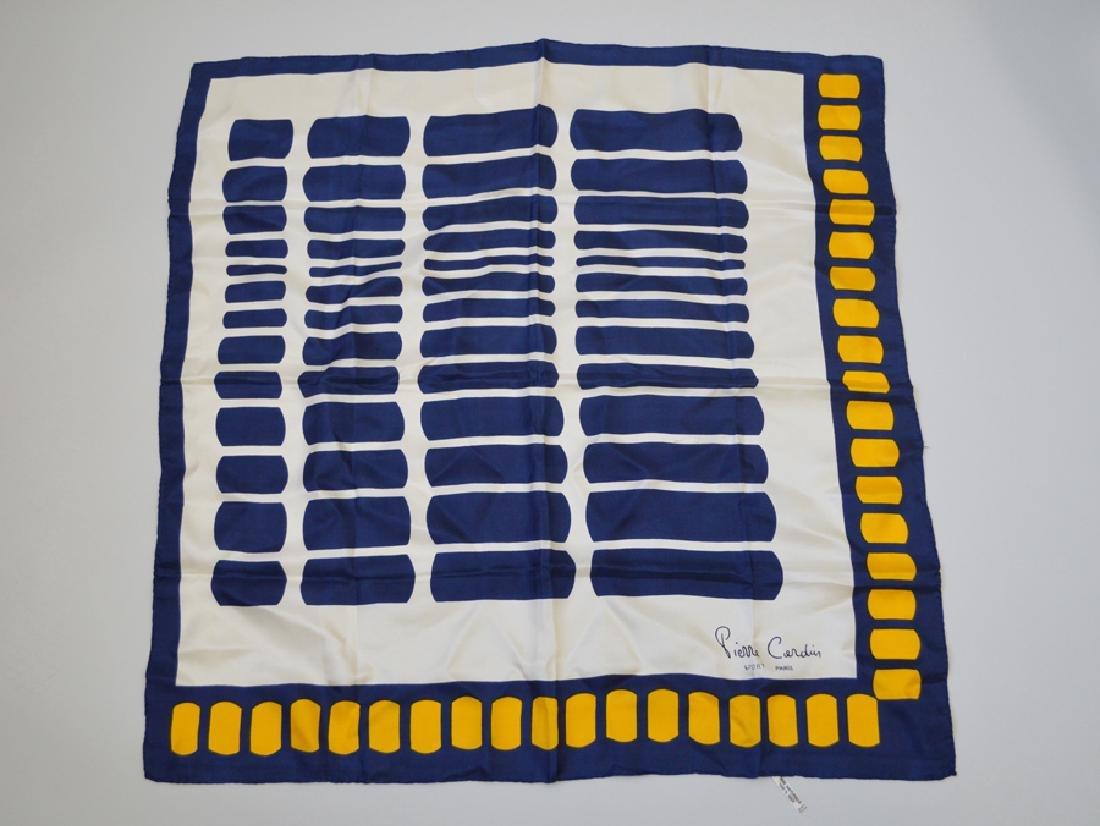 Pierre Cardin Silk Scarf Off/white, Orange Tones