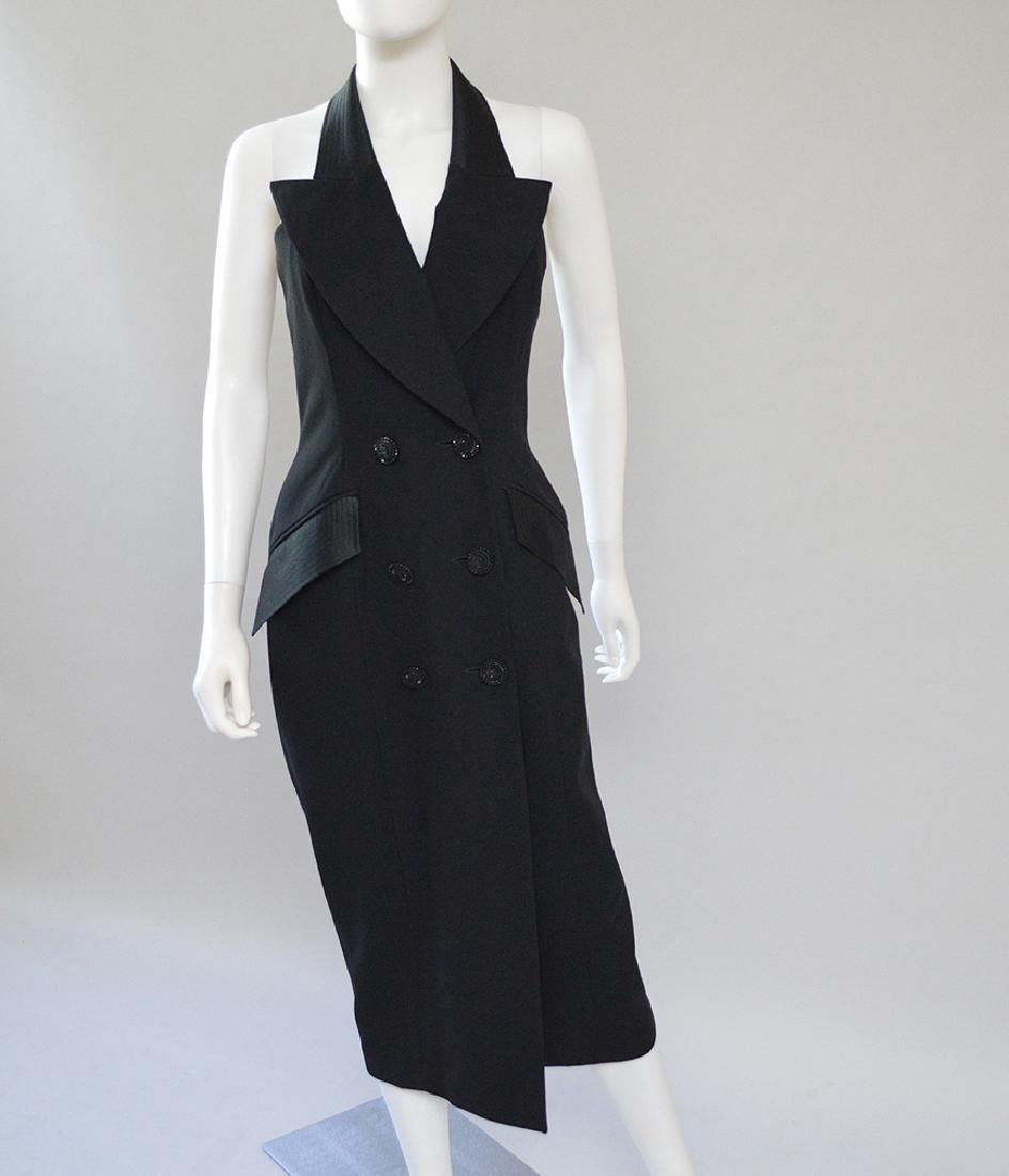 Bill Blass Black Dress with Sheer Back. S: 4.