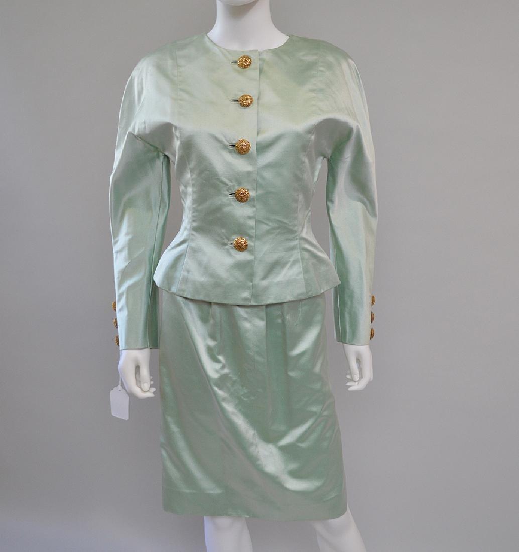 Oscar de la Renta Pastel Green 2pcs Jacket & Skirt. S: