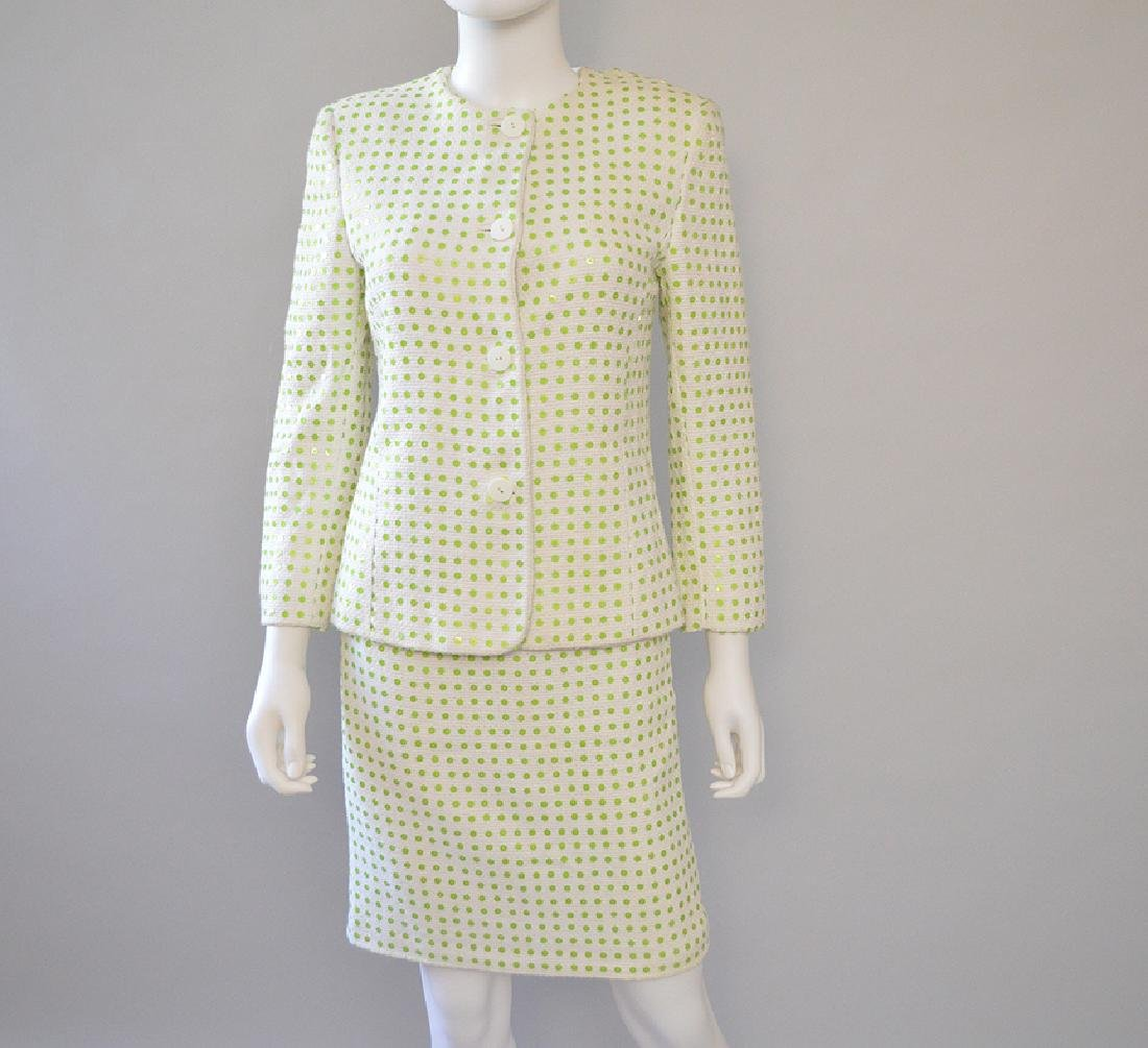 Jenny Oro Couture 2pcs Green Pastel Made in Italy. S:8
