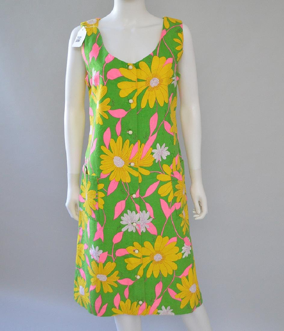 Lilly Pulitzer Sleeveless Dress in Sun Flower Print. S: