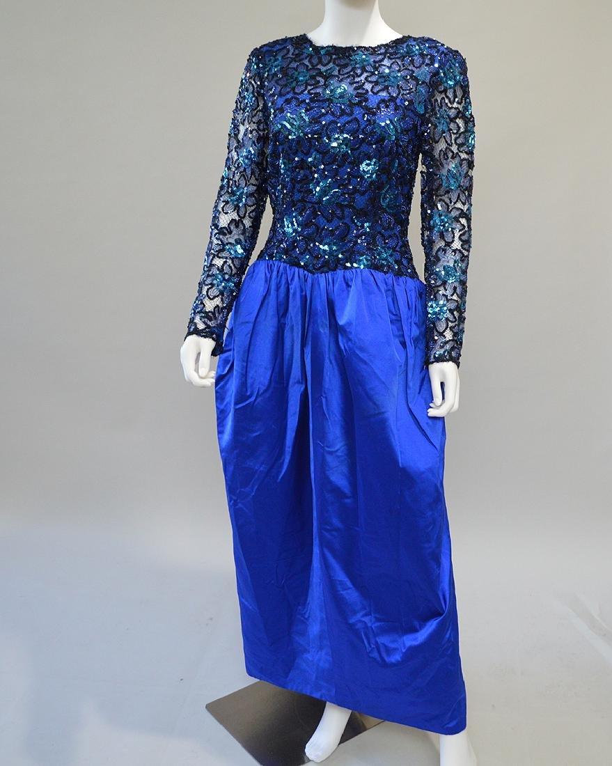 Givenchy Bergdorf Goodman Paris Blue Gown. S: 10-12