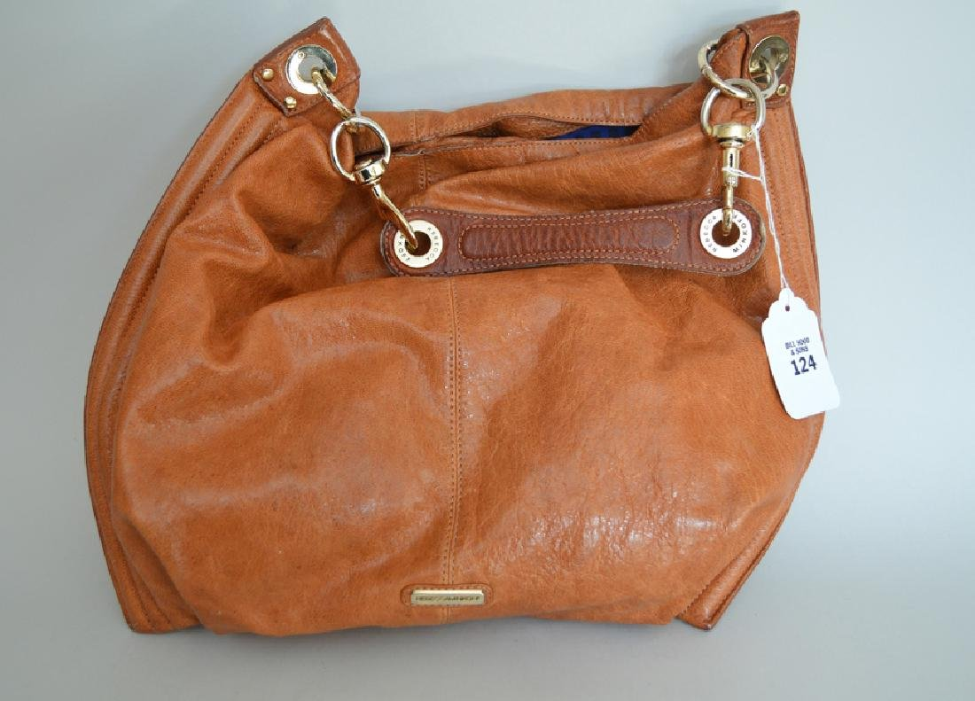 Rebecca Minkoff, large tan leather hobo bag with gold