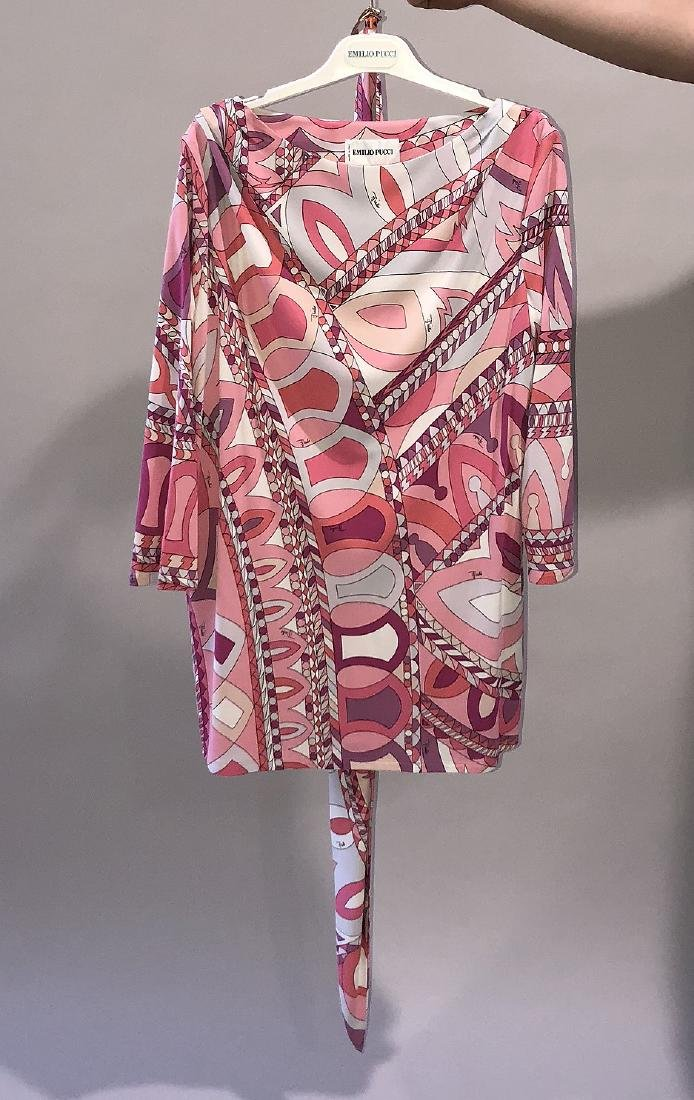 2 Emilio Pucci Long-sleeved Belted Blouses; (1)