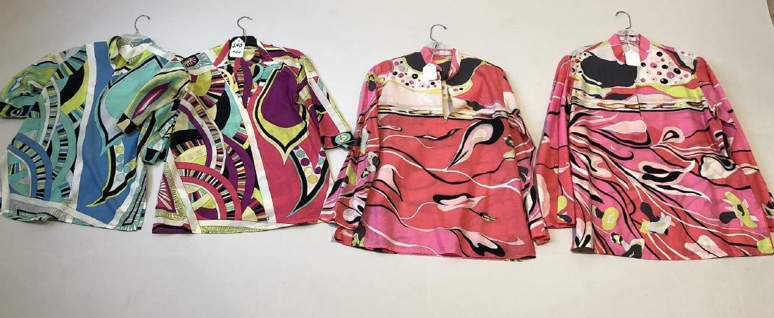 4 Emilio Pucci Tunic-style Cotton Tops, (1)