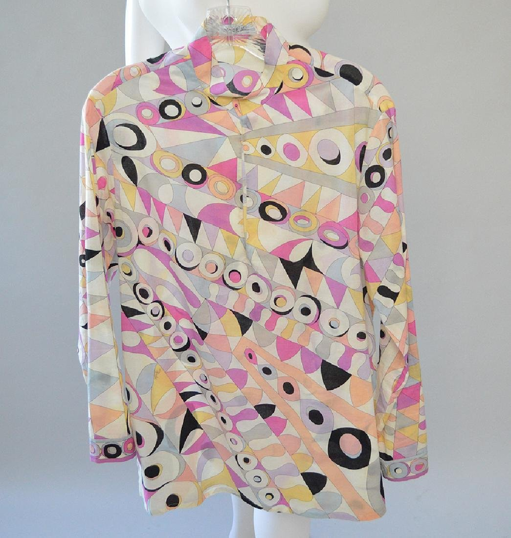 3 Emilio Pucci Tunic-style Cotton Long-sleeved Tops,