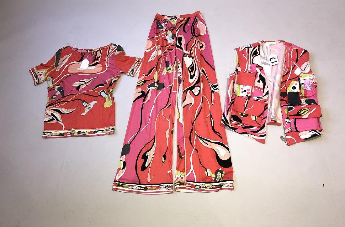 Emillio Pucci Silk Pant Set with Matching Vest and