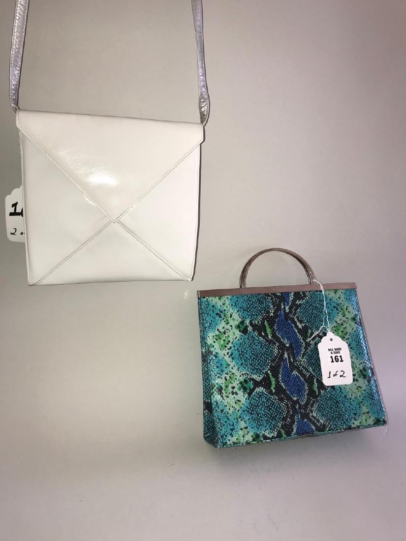 2 Charles Jourdan Handbags, (1) Teal, Seafoam, and