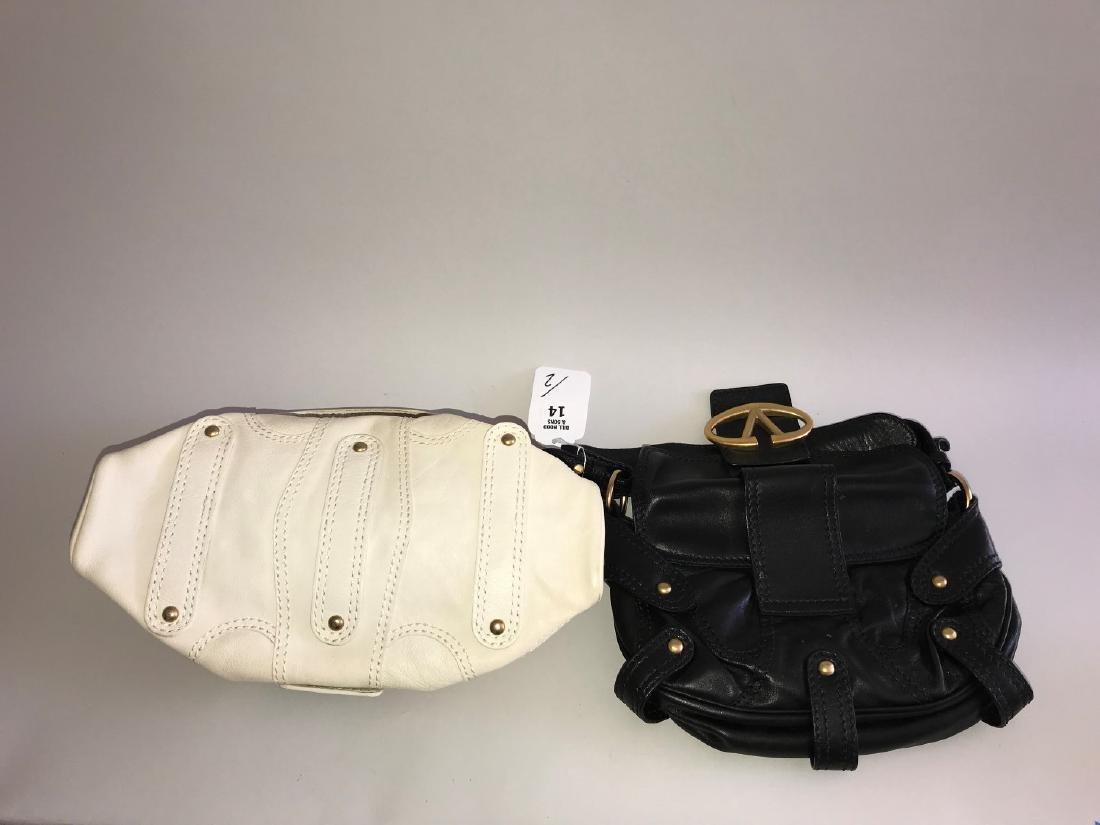 2 Charles Jourdan Purses, (1) Black Kidskin Leather,