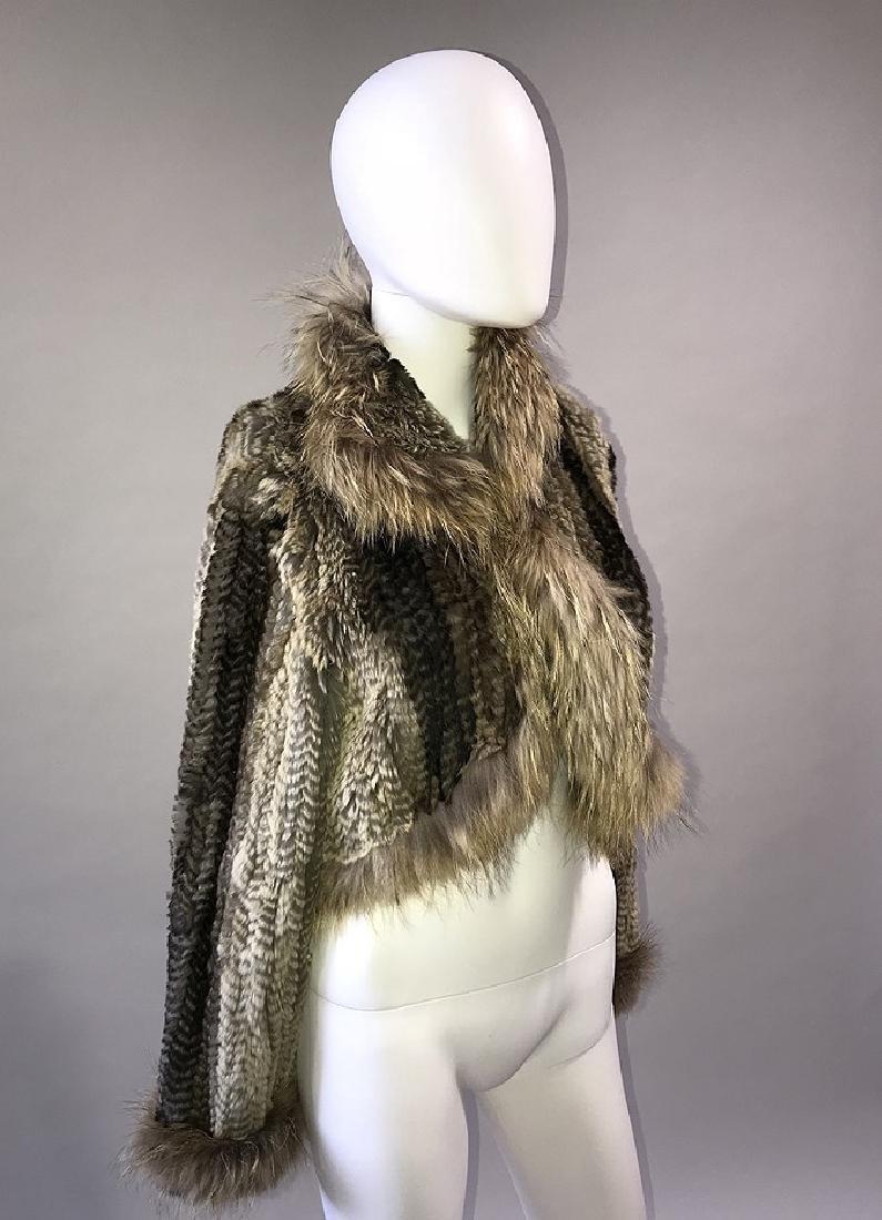 Rabbit and Fox Fur Bolero Jacket, Extra Small Size,