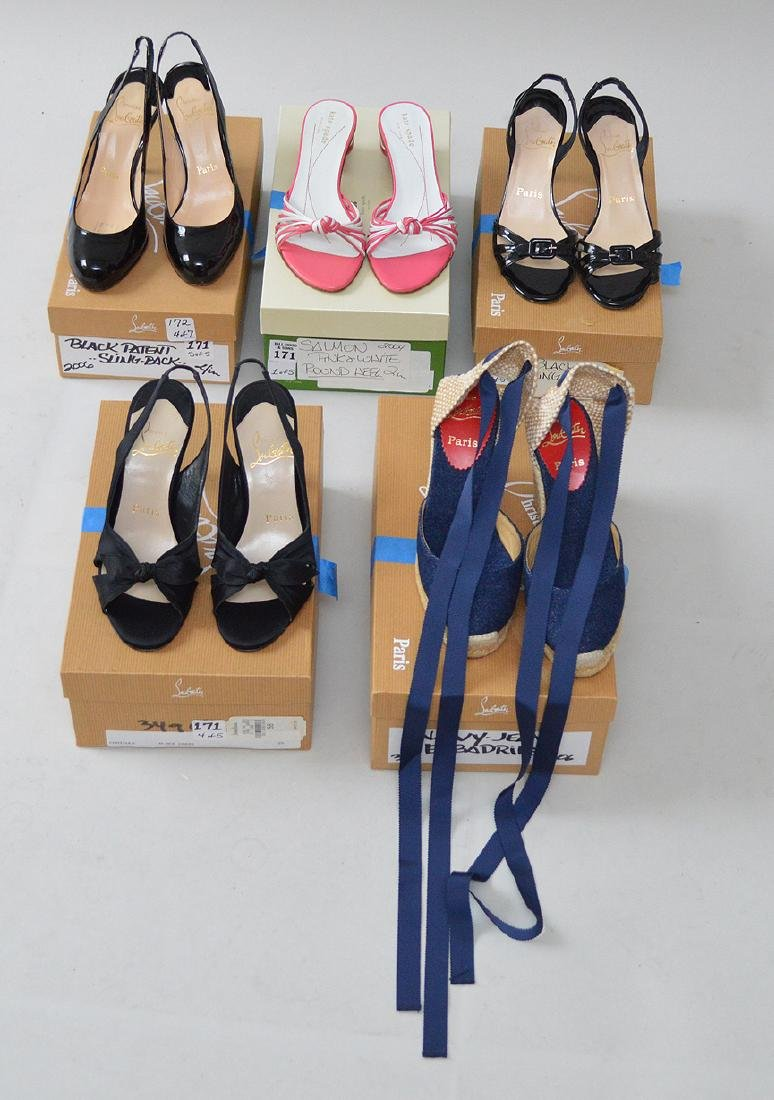 Lot of Five Pairs of Vintage Ladies' Shoes (US) Size 5,