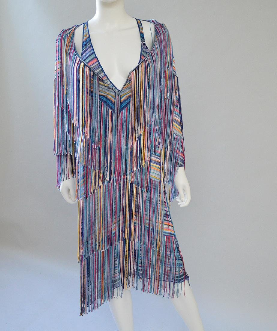 Fringed Sheer Woven 2-piece Dress Set with Jacket,