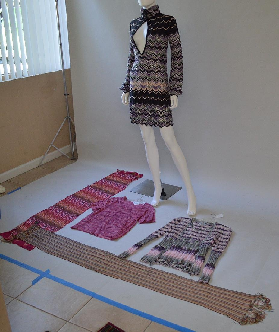 Lot of Six Pieces of Vintage Missoni Italian Knitwear