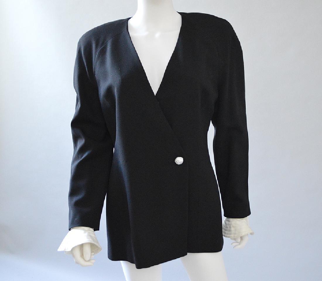 Vintage Christian Dior Jacket, Black Polyester, with