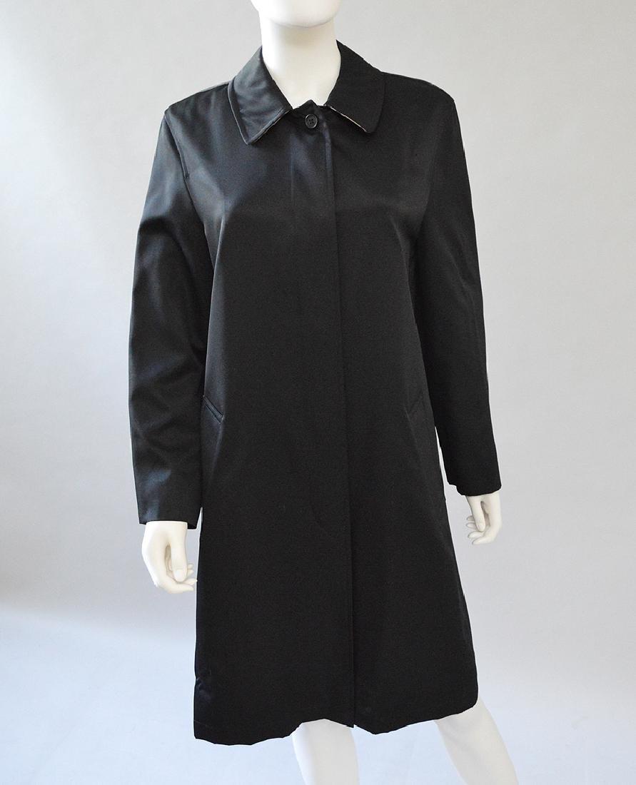 Burberry of London, Black Car Coat, (US) Size 8, Good