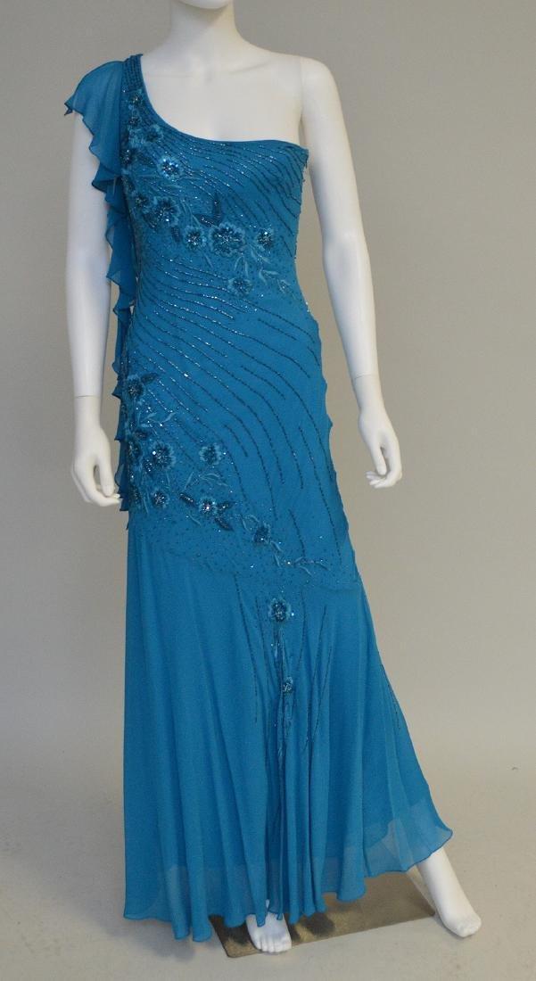 Vintage Sue Wong Long Silk Evening Gown circa 1999,