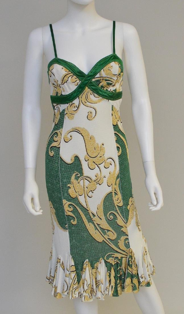 Vintage Roberto Cavalli Silk Cocktail Dress,(Italy)