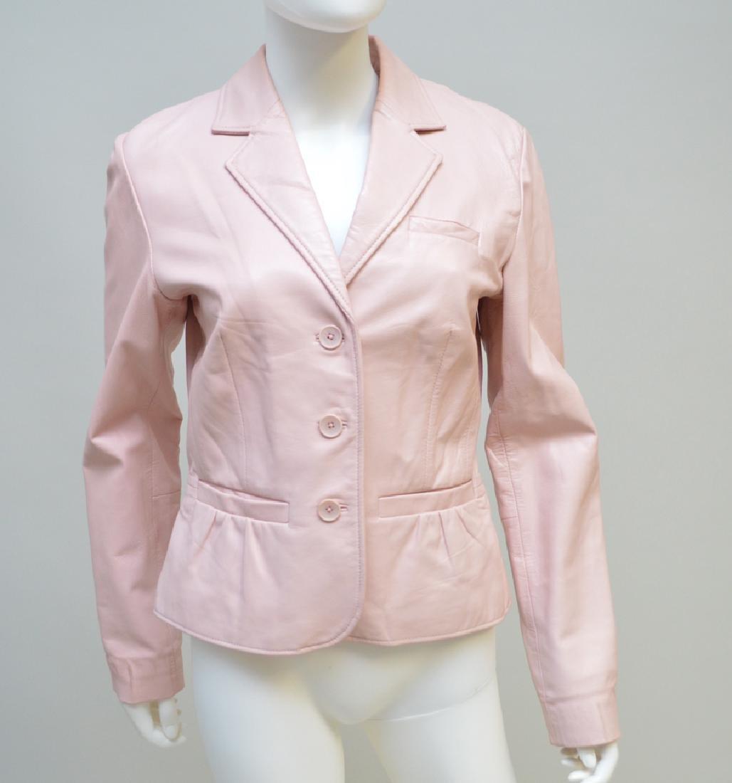 Godfrey Ladies' Leather Jacket, Pink, (US) Size 6;