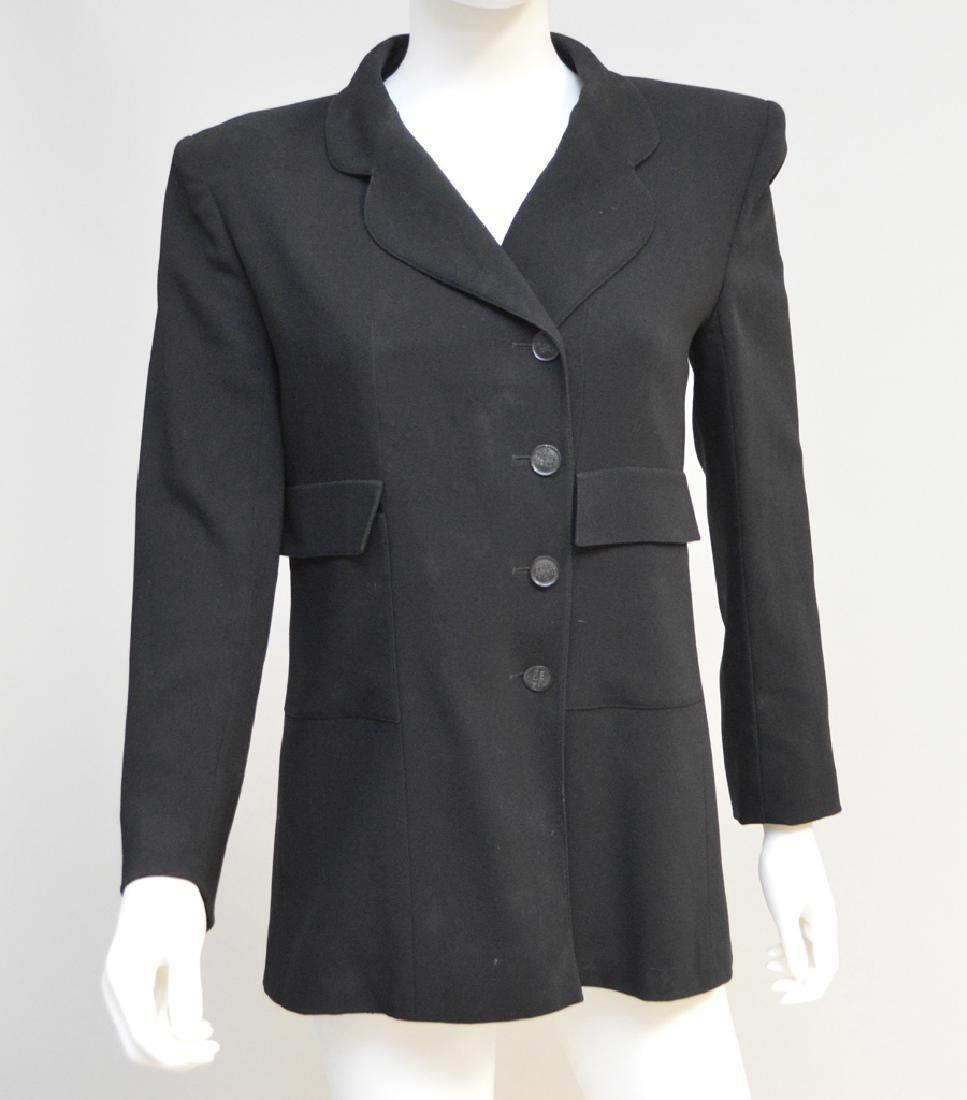 Lot of Two Ladies' Vintage Chanel Blazers, Black,