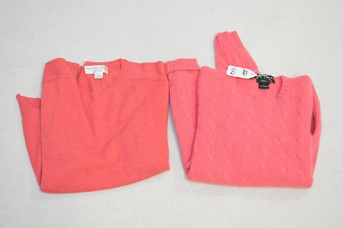 Lot of Two Cashmere long-sleeved Sweaters, Ladies Size