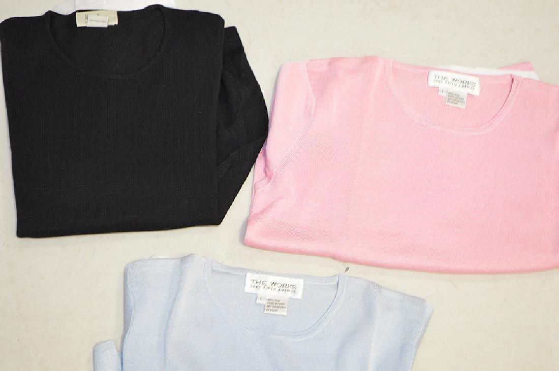 Lot of Three Silk Knit Tops, Short-Sleeved, Ladies Size