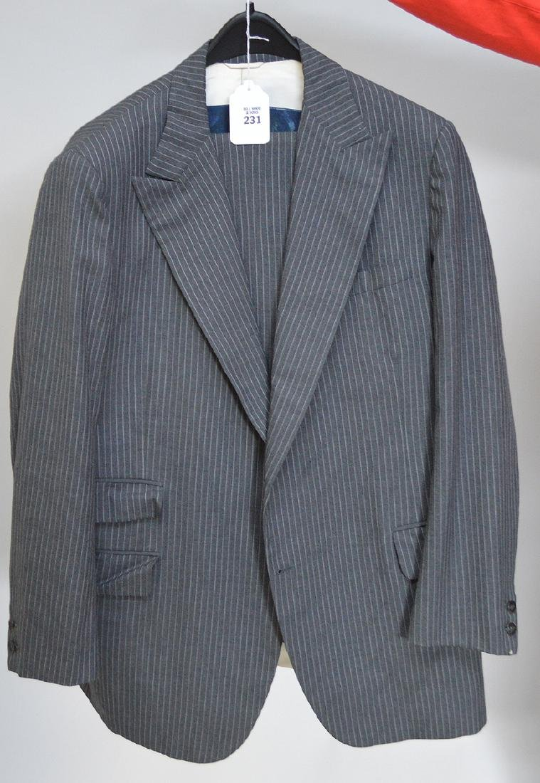 Vintage Chipp (suit maker to JFK) Grey with white