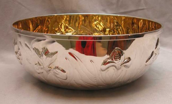 2: Tiffany sterling silver bowl w/ gold washed interior