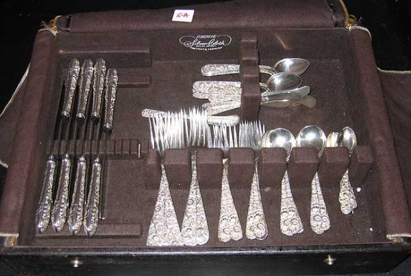 5A: Sterling 55 pc. Kirk repose' dinner service for 8 i
