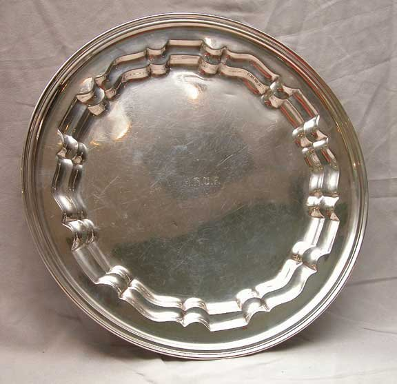 6: American sterling silver tray Dominick & Haff 21oz