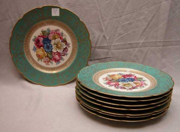 9: Set of 8 German porcelain service plates