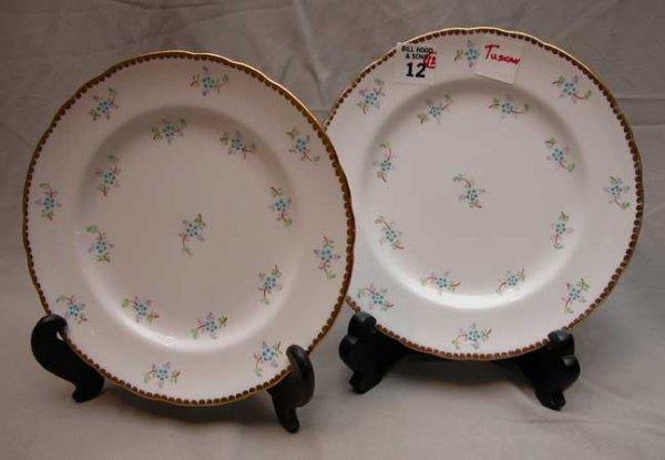 "12: 12 Tuscan plates, 8 1/4"""