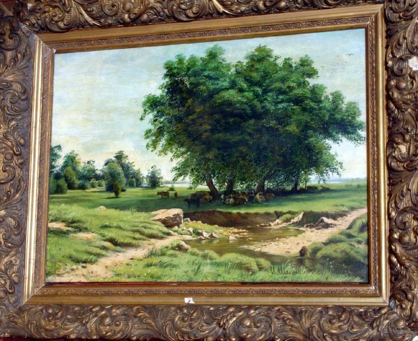 197A: Attributed to I. Shishkin Russian Oil Painting