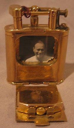 """209: Dunhill clock lighter 9 kt Gold """"Pat. No.143752"""" - 4"""