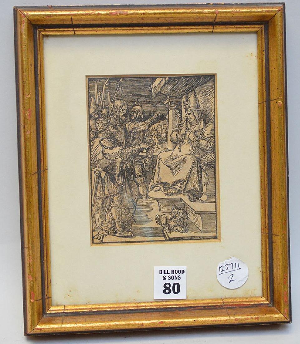 Albrecht Dürer antique Etching, Passion series, image