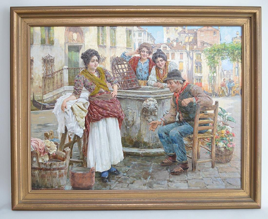 Giuseppe Vizzotto Alberti (ITALIAN, 1862-1931) oil on