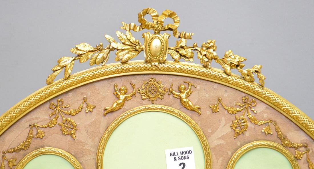 Antique French Gilt Metal Picture Frame.  Condition: - 2