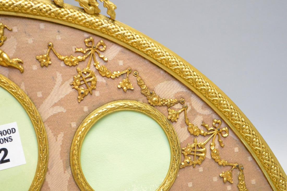 Antique French Gilt Metal Picture Frame.  Condition: - 4