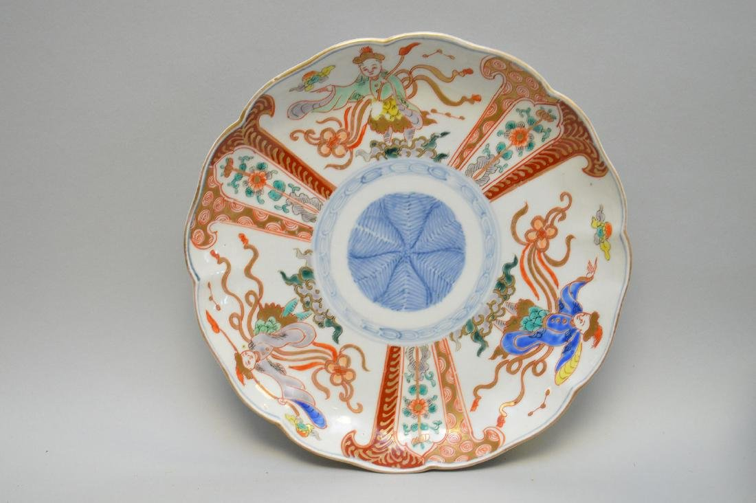 11 Chinese Imari Plates.  Condition: no cracks or - 2