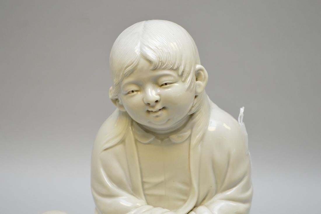 Early Japanese Blanc De Chine Porcelain Figure. - 2