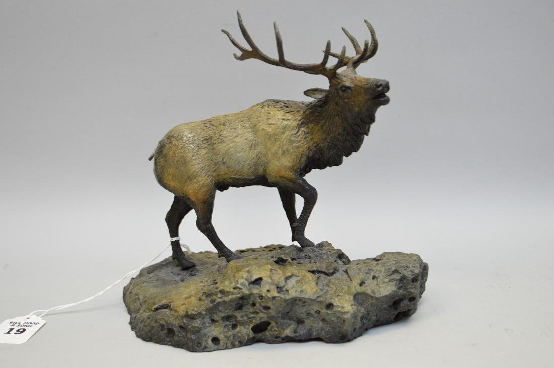"Poly Chromed Bronze Stag ""Mountain Top Challenge"""
