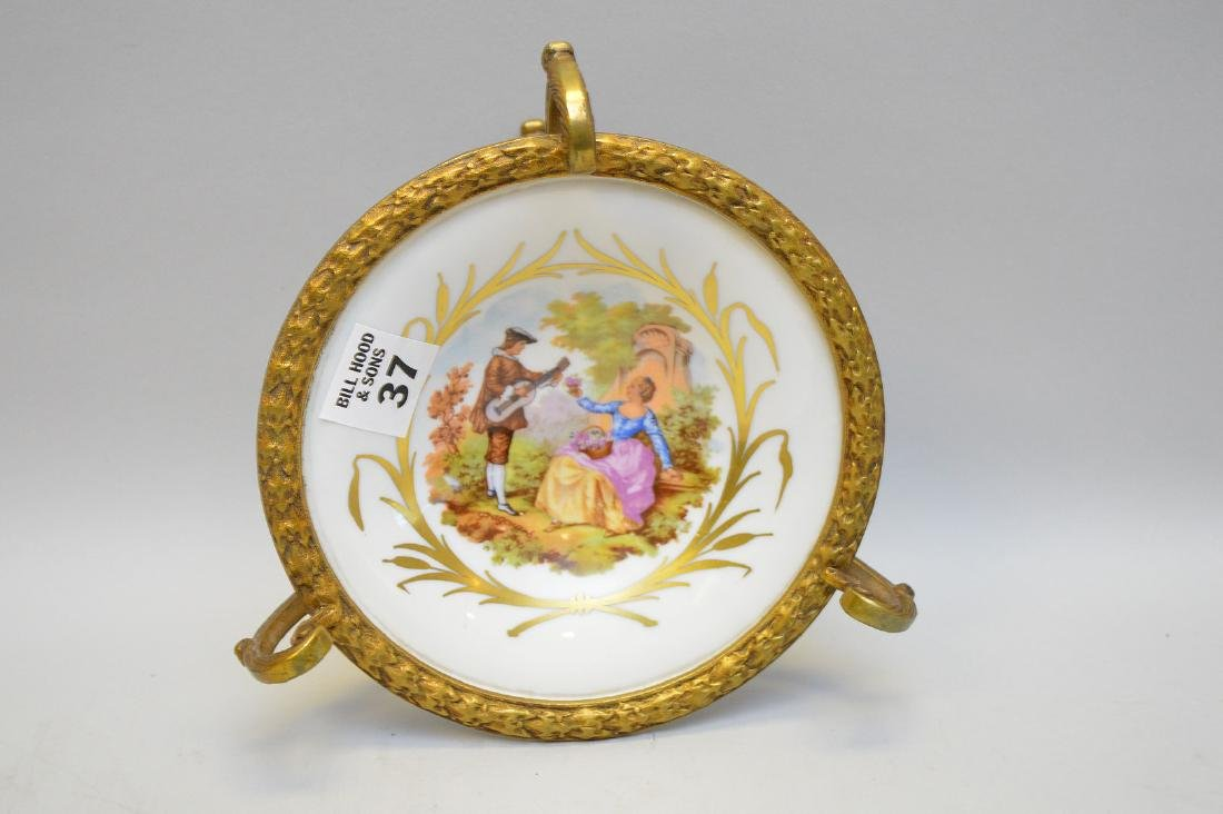 French Candy Dish Gilt Bronze Mounted. Turn of the - 3
