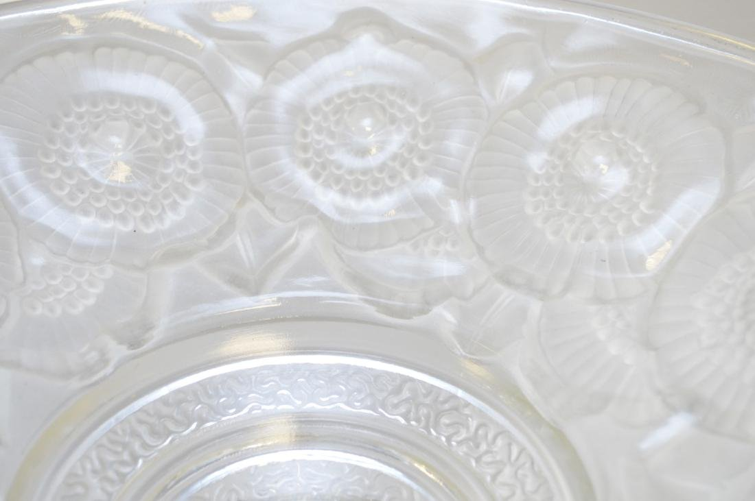 French Deco frosted art glass pedestal center piece, - 4