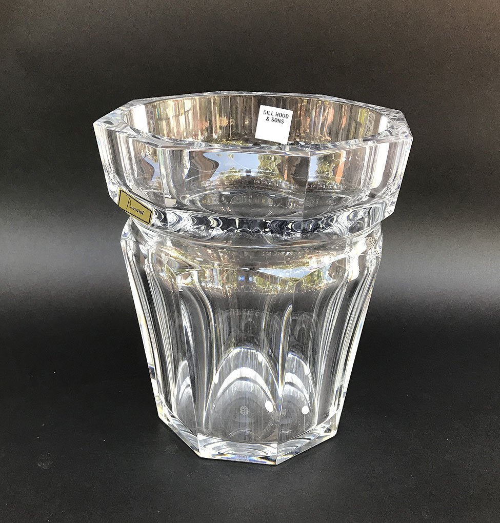 "Baccarat crystal wine cooler, 9 1/2""h x 7 1/2""w"