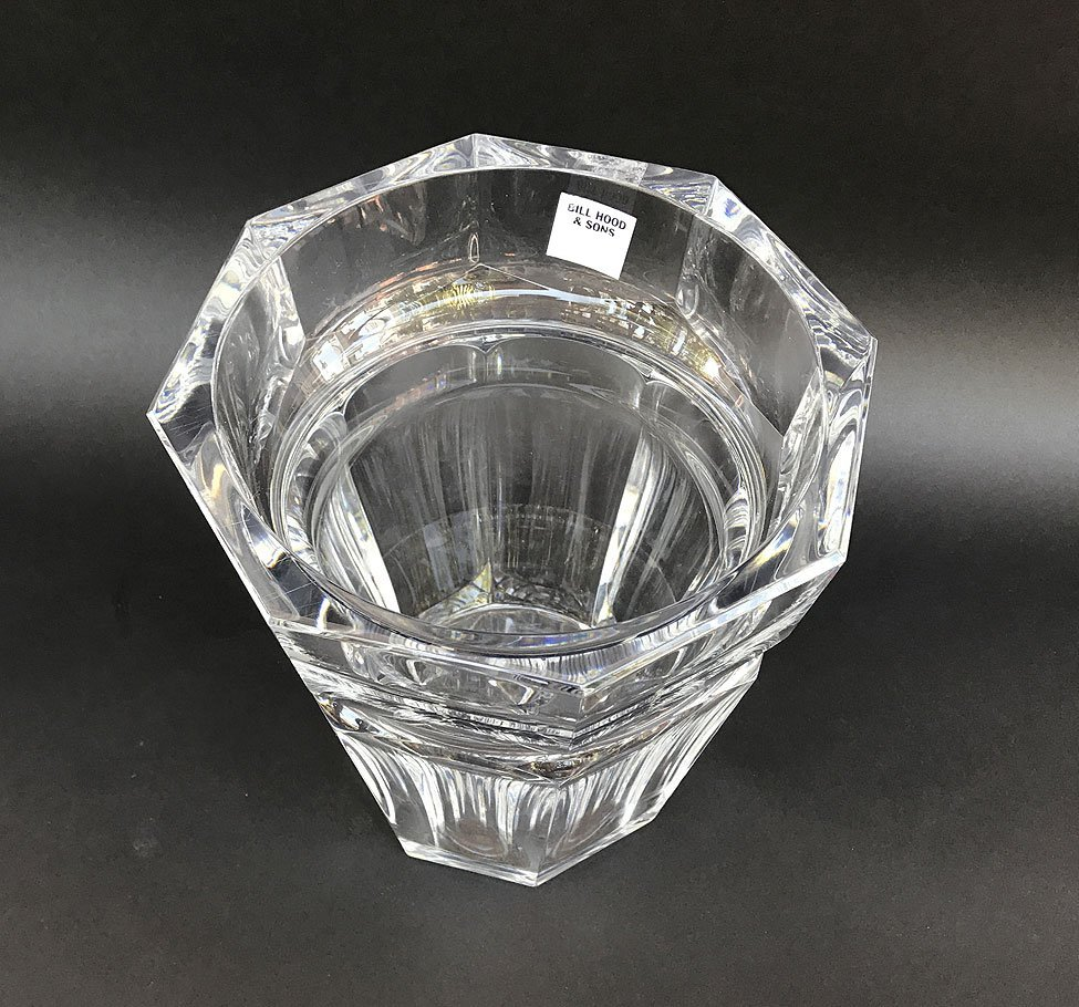 "Baccarat crystal wine cooler, 9 1/2""h x 7 1/2""w - 2"