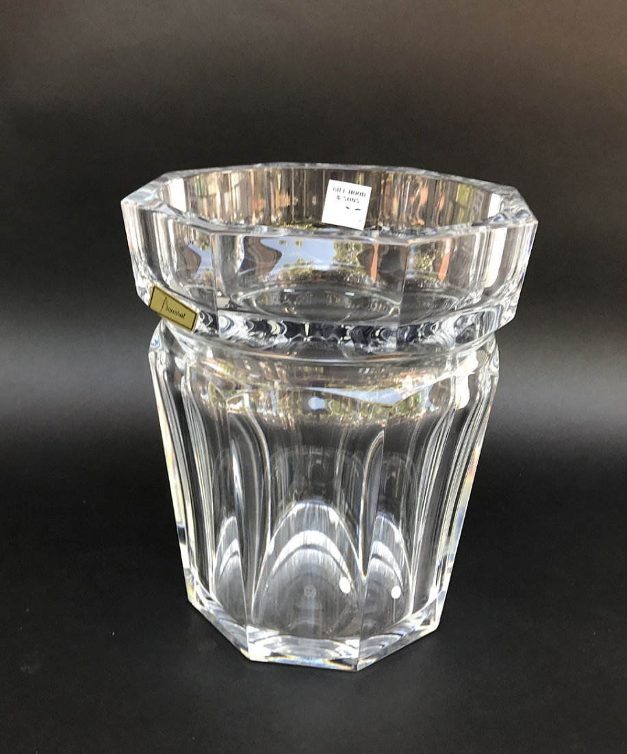 "Baccarat crystal wine cooler, 9 1/2""h x 7 1/2""w - 3"