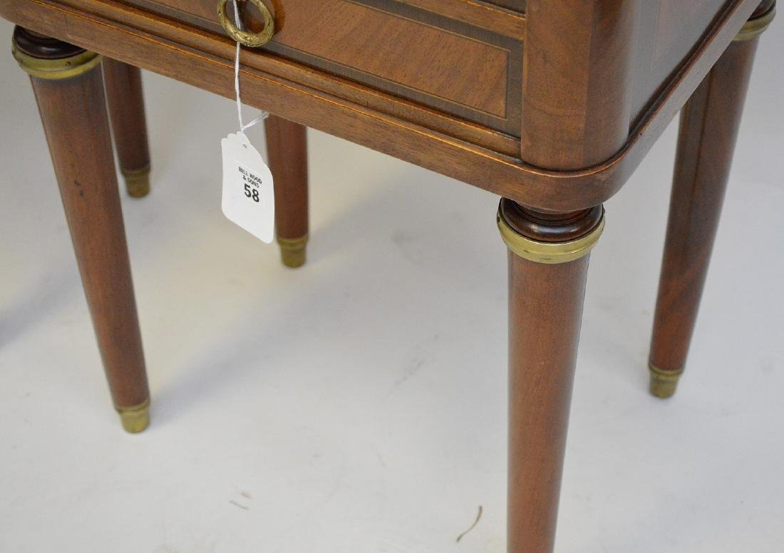 Pair French Empire style side table, ormolu mounts, - 5