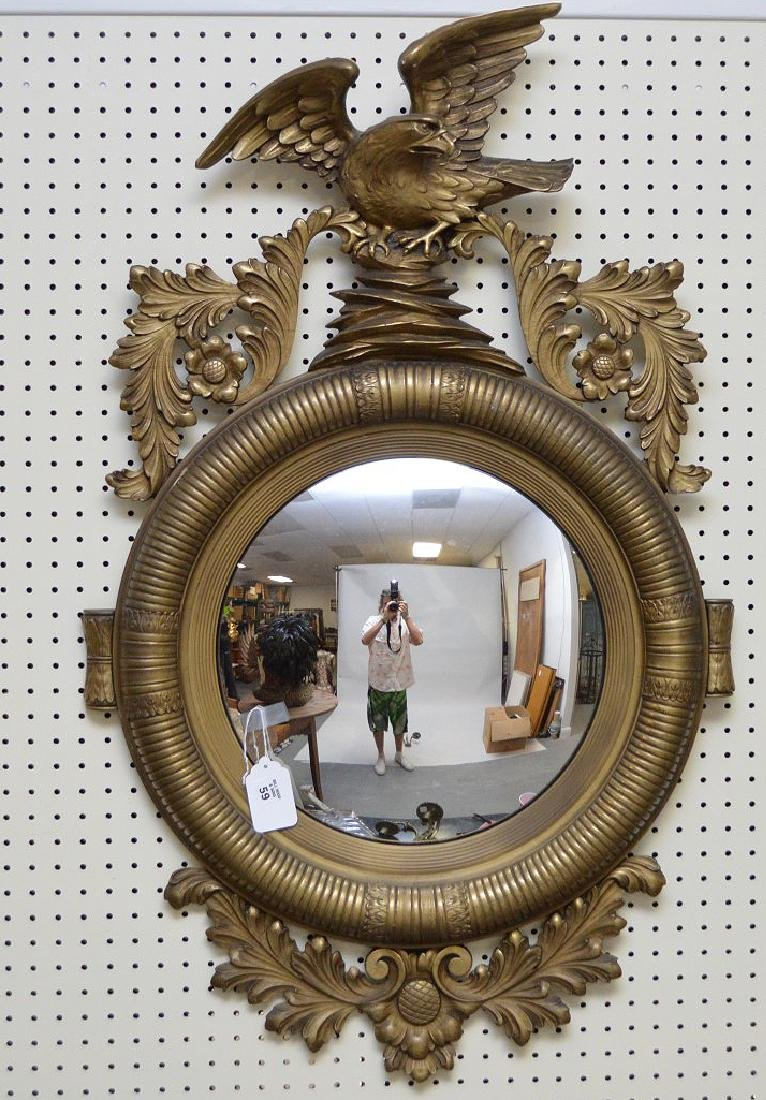 Antique Convex Federal style mirror, Eagle and Acanthus