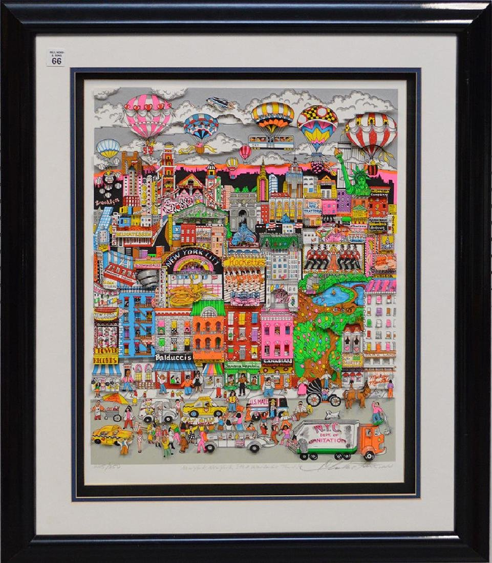 Charles Fazzino (AMERICAN, 1955) New York New York,